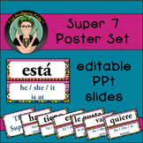 Spanish Super Seven {7} Poster Set {Editable!} Aztec design
