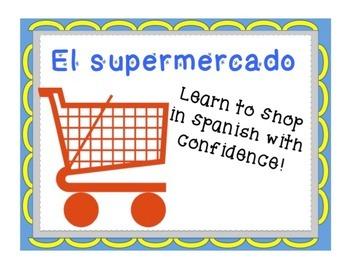 Complete Unit-Spanish Supermarket Shopping BUNDLE: PowerPo