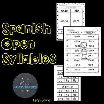 Spanish Syllable Reading (Sílabas)