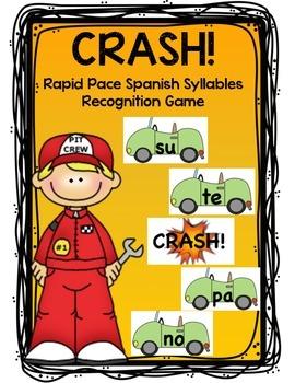 Spanish Syllable/Silabas Rapid Pace game Crash!