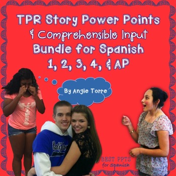 Spanish TPR Stories and Comprehensible Input Bundle for Le