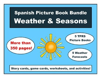 Spanish Weather and Seasons Picture Book Bundle