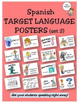 Spanish Target Language Posters - Set 2