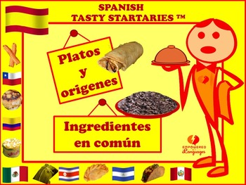 Spanish Tasty Startaries™: Platos y orígenes, Ingredientes