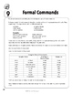 Spanish Teacher's Handbook: Formal Commands