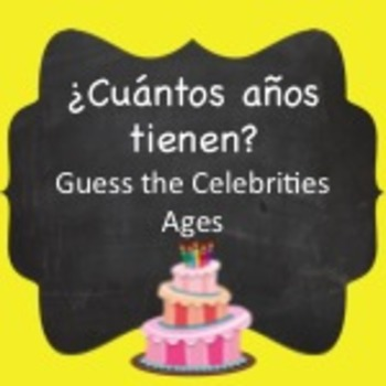 Spanish Vocabulary:  Telling Age & Numbers