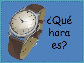 Spanish Telling Time PowerPoint Interactive Student Activi