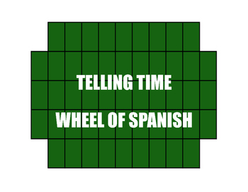 Spanish Telling Time Wheel of Spanish