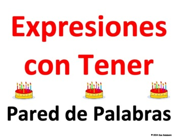 Spanish Tener Expressions Word Wall Classroom Signs