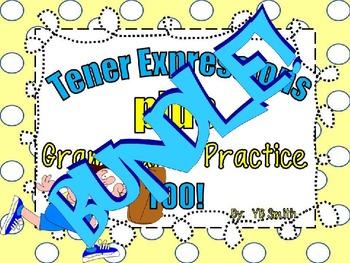Spanish Tener Grammar Notes and Practice Powerpoint BUNDLE