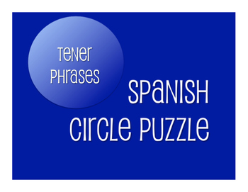 Spanish Tener Phrases Circle Puzzle