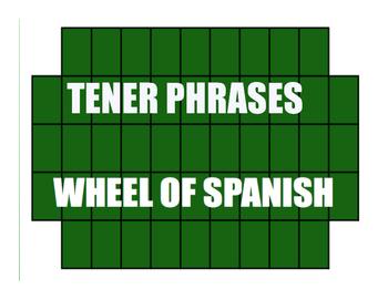 Spanish Tener Phrases Wheel of Spanish