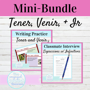 Spanish Tener, Venir, and Ir expressions with infinitives