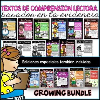 **GROWING BUNDLE***Spanish Text Based Evidence Reading Pas