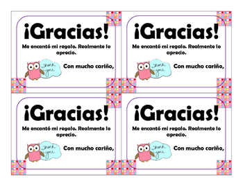 Spanish Thank You Notes - 200 FOLLOWER FREEBIE