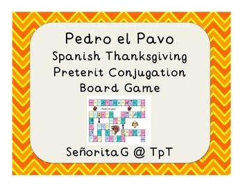 Spanish Thanksgiving Preterit Conjugation Game