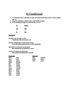 Spanish: The Conditional Tense