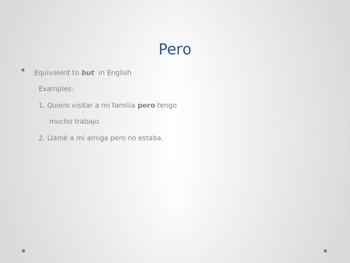 Spanish: The use of pero y sino