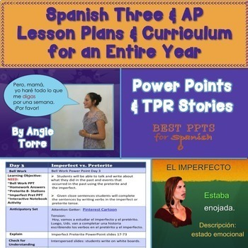 Spanish Three and AP Lesson Plans and Curriculum for an En