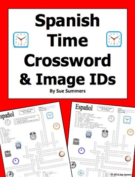 Spanish Time 20 Word Crossword Puzzle and Image IDs