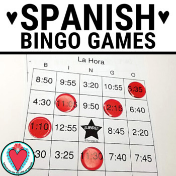 Spanish Time BINGO