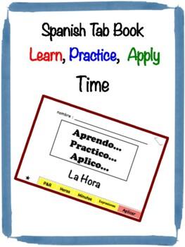 Spanish Time Tab Book