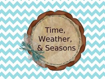 Spanish Time, Weather, & Seasons - Keynote for Mac, iPad, iPhone