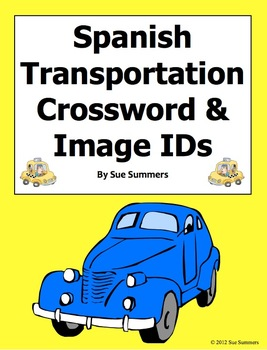 Spanish Transportation Crossword Puzzle and Vocabulary - E