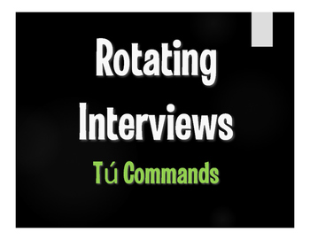 Spanish Tú Commands Rotating Interviews