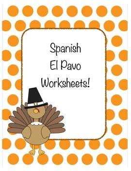 Thanksgiving: Spanish Turkey Worksheets