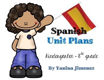 Spanish Unit Plans for the Busy Teacher ~ Editable