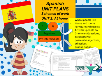 Spanish Unit plans my house, mi casa Unit 2 for beginners