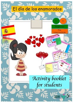 Spanish Valentine's day , día de San Valentine booklet for