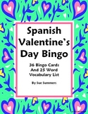 Spanish Valentine's Day Bingo - 36 Game Cards and Vocabulary