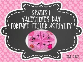 Spanish Valentine's Day Fortune Teller Activity