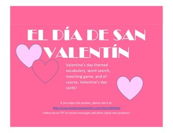 Spanish Valentine's Day Packet