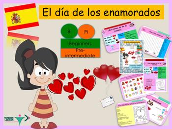 Spanish Valentine's day bundle , día de San Valentine