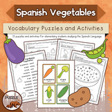 Spanish Vegetables Puzzles and Activities