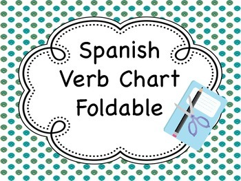 Spanish Verb Chart Fold-It