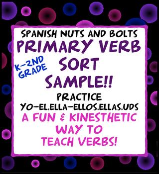 Spanish Verb Conjugation Sort for beginners