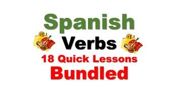 Spanish Verb Conjugations (Regular, Irregular): 18 Quick L