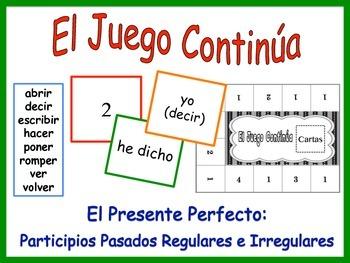 Spanish Present Perfect (Regular and Irregular) Activity f