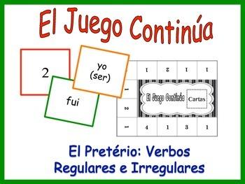 Spanish Preterite (Regular & Irregular) Activity for Groups