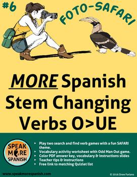 Spanish Verb Game  MORE Stem Changers O>UE *Más Verbos con