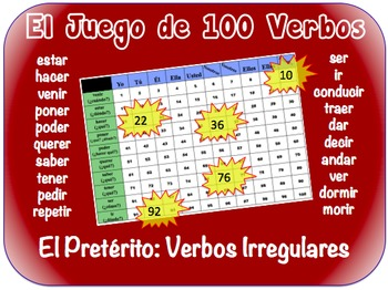 Spanish  Irregular Preterite Writing Activity (Powerpoint)