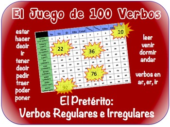 Spanish Preterite (Regular & Irregular Writing Activity (P