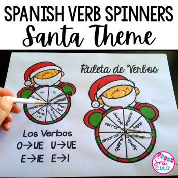 Spanish Verb Spinners:  Santa Edition