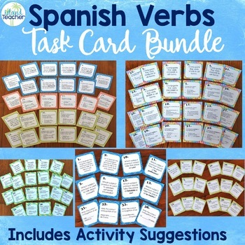 Spanish Verb Task Cards Bundle