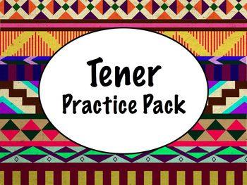 Spanish Tener Worksheets Practice Pack