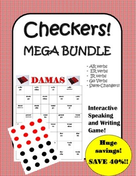Spanish Verbs Checkers Bundle!